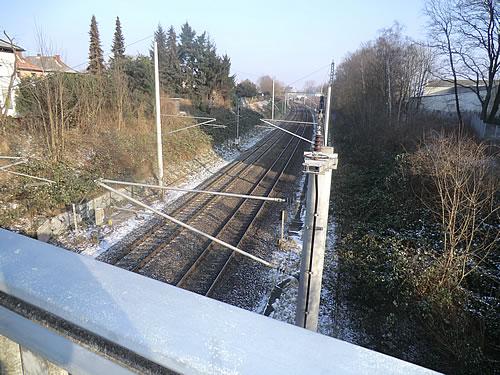 Bahngleise beim Holstenhofweg